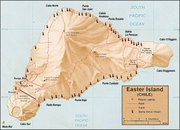 Map of moais in Easter Island