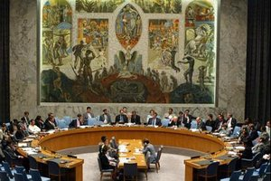 A session of the Security Council in progress