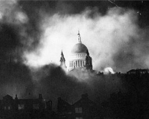during the bombing of London.