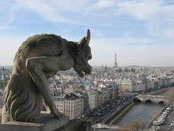 View over Paris from the Grand Gallery of Notre Dame