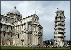 The Leaning Tower of Pisa, Italy. Photo provided by Classroom Clip Art (http://classroomclipart.com)