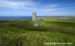 Castle on the coast of Ireland. Image provided by Classroom Clipart (http://classroomclipart.com)